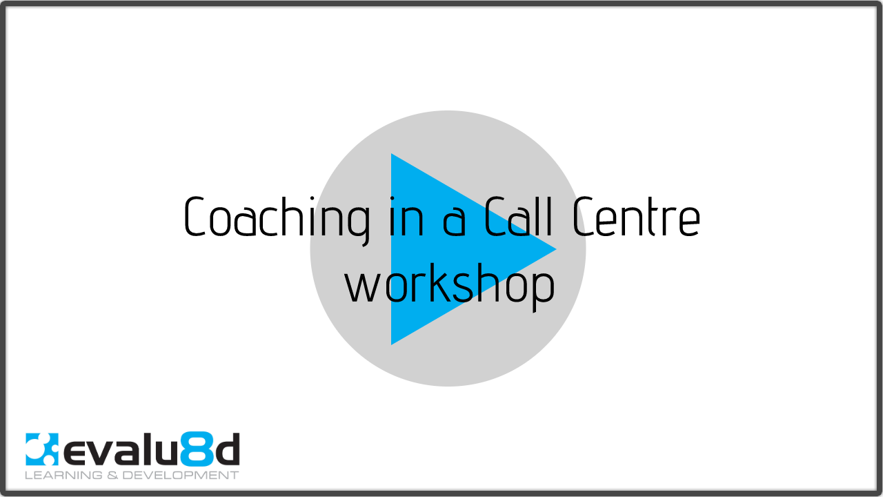 title slide for Coaching in call centres