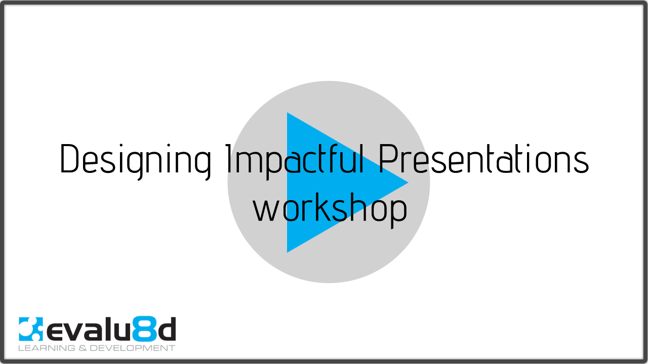 title slide for designing presentations training overview