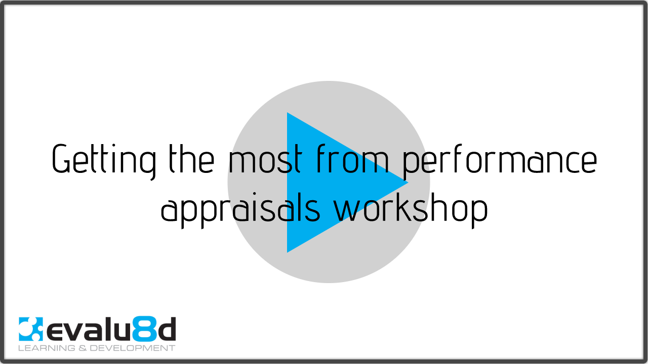 title slide for Getting the most from performance appraisals